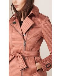 Burberry - Pink Quilted Shell Jacket - Lyst
