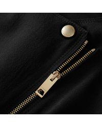 Burberry | Black Zip Detail Sleeveless Wool Dress | Lyst