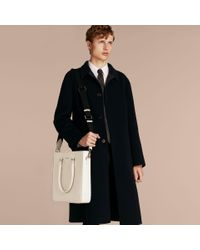 Burberry - Multicolor London Leather Tote Bag Pale Stone - Lyst
