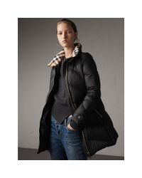 Burberry - Chevron-quilted Down-filled Coat Black - Lyst