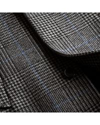 Burberry Black Prince Of Wales Check Wool-blend Coat for men