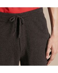 Burberry - Multicolor Knitted Cashmere Blend Drawstring Trousers for Men - Lyst