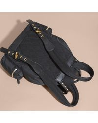 Burberry Black The Large Rucksack In Nylon And Riveted Leather
