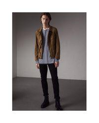Burberry Multicolor Technical Cotton Canvas Field Jacket for men