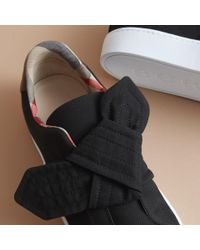 Burberry Black Trench Knot Cotton Gabardine Trainers