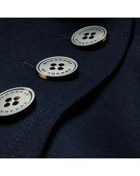 Burberry Blue Longline Oversize Wool Coat