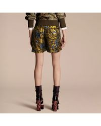 Burberry Multicolor Floral Silk Pyjama-style Shorts