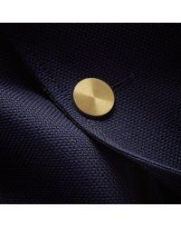 Burberry Blue Slim Fit Wool Hopsack Tailored Jacket for men