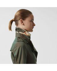 Burberry Green Sandringham Fit Cotton Gabardine Trench Coat