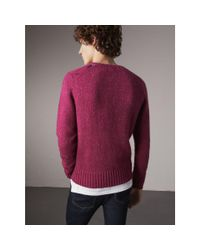 Burberry Multicolor Wool Cashmere Mohair Tweed Sweater for men