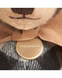 Burberry | Natural Thomas Bear In Check Cashmere | Lyst