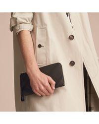 Burberry London Check Travel Wallet Chocolate/black