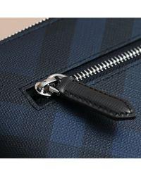 Burberry Blue Large London Check Zip Pouch Navy/black for men