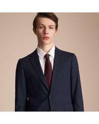 Burberry Multicolor Classic Cut Check Silk Jacquard Tie Deep Claret for men