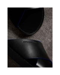 Burberry Ledersandalen mit kontrastierendem Detail in Black für Herren