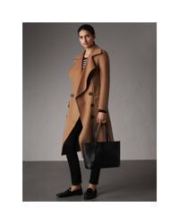 Burberry - The Small Reversible Tote In Haymarket Check And Leather Black - Lyst