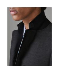 Burberry - Gray Slim Fit Prince Of Wales Check Wool Silk Suit for Men - Lyst