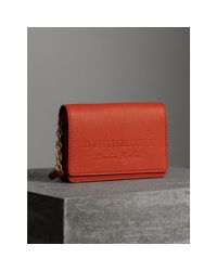 Burberry Multicolor Embossed Leather Wallet With Detachable Strap