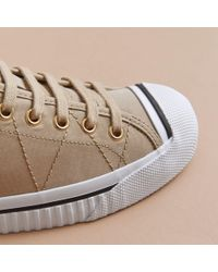 Burberry Multicolor Topstitched Cotton Gabardine Trainers
