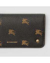 Burberry Black Ekd Leather Phone Wallet
