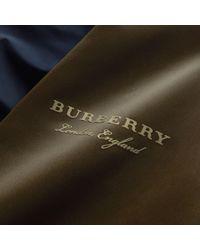 Burberry Blue Two-tone Shape-memory Taffeta Bomber Jacket for men