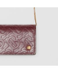 Burberry Multicolor Monogram Leather Card Case With Detachable Strap