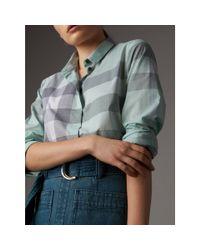 Burberry - Multicolor Check Cotton Shirt Pale Opal - Lyst