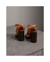 Burberry Multicolor Tasselled Leather Block-heel Sandals