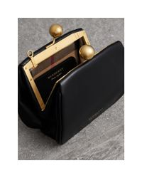 Burberry Black Small Leather Frame Bag