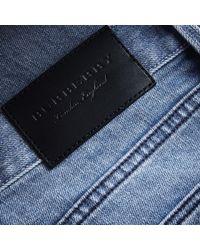 Burberry Blue Skinny Fit Brushed Stretch Denim Jeans for men