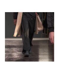 Trench en gabardine de coton bicolore Burberry pour homme en coloris Black