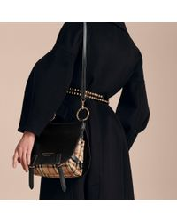 Burberry Black The Bridle Leather Bag