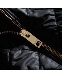 Burberry Detachable Hood Quilted Showerproof Parka Black