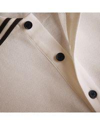 Burberry Striped Collar Cotton Piqué Polo Shirt White for men