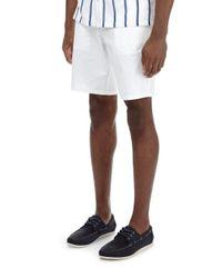 Burton White Smart Chino Shorts for men