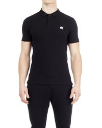 Burton Hiit Black Muscle Fit Stretch Polo Shirt for men