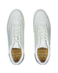 Burton White Leather Look Trainers for men