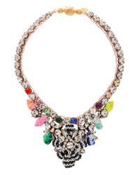 Shourouk | Multicolor Theresa Mini Sequin Necklace | Lyst