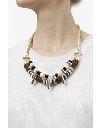 French Connection | Metallic Tribal Bead Necklace | Lyst