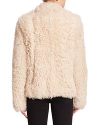 Helmut Lang - White Tigrado Fur Jacket - Lyst