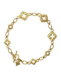 Armenta | Metallic 18k Sculpted Scroll Bracelet W/diamonds for Men | Lyst