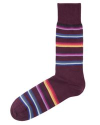 Paul Smith | Red Multi Stripe Socks for Men | Lyst