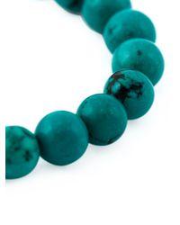Leivan Kash   Green Beaded Feather Bracelet   Lyst