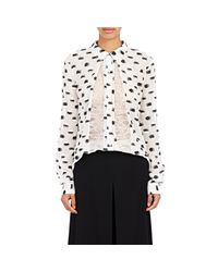 Thakoon | Black Lace-inset Fil Coupe Blouse | Lyst