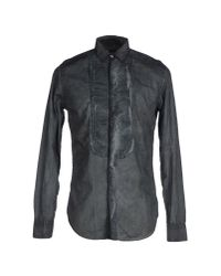Paolo Pecora - Gray Shirt for Men - Lyst