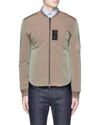 Acne Studios Natural 'silas' Faux Leather Patch Bomber Jacket for men