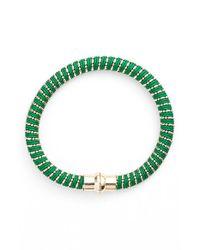 Nu Brand - Green Beaded Bracelet - Lyst