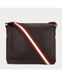 Bally Brown Triar Medium Men ́s Leather Messenger Bag In Chocolate for men