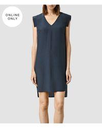 AllSaints - Blue Tonya Vik Dress - Lyst