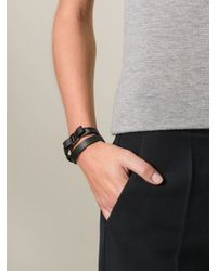 Ferragamo | Black Vara Bow Wrap Around Bracelet | Lyst